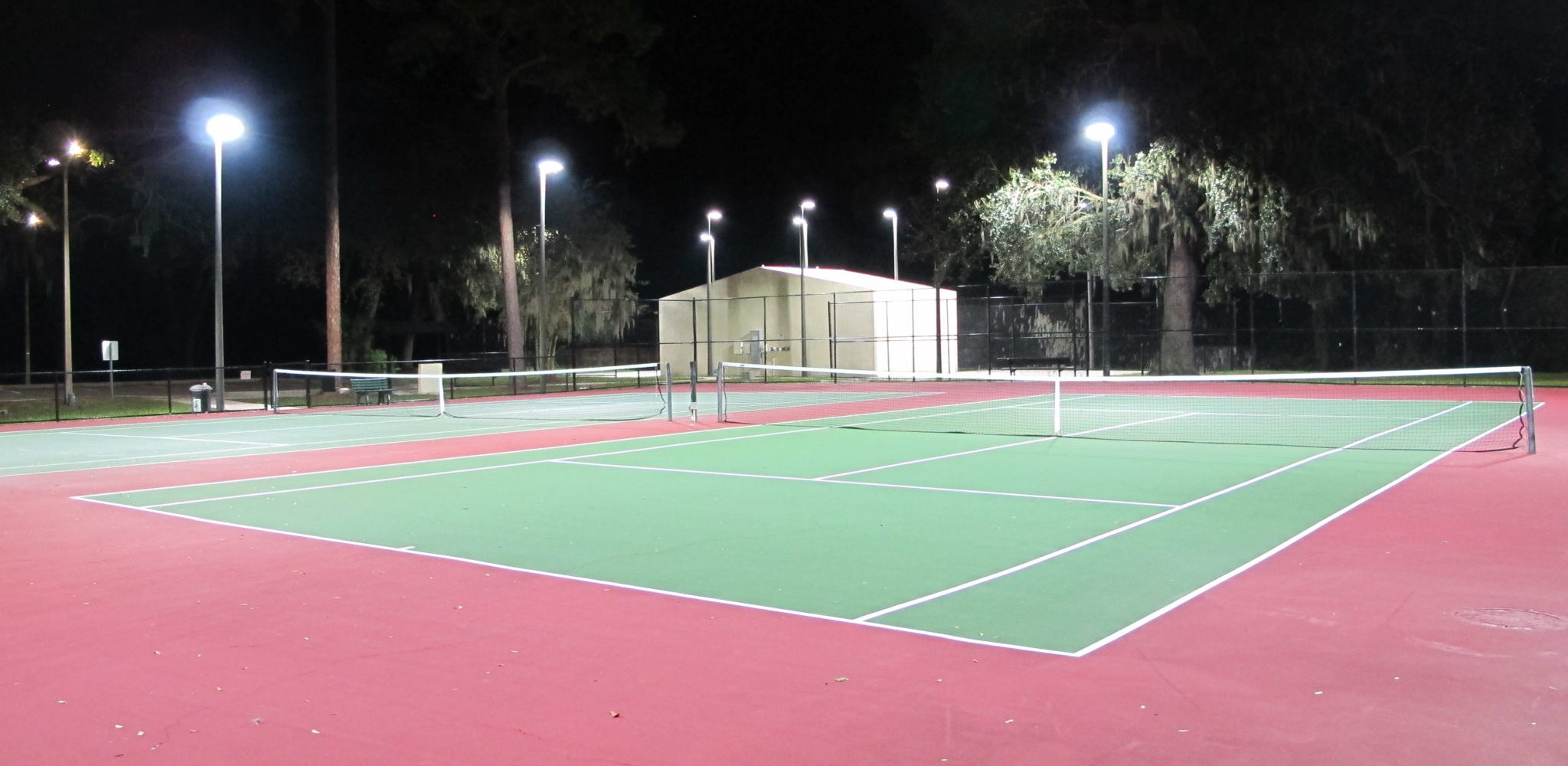 LED Lighting at Tennis Court in Safety Harbor, Florida. Tennis Court LED Lighting. Tennis Court LED Lighting Pinellas County. LED Lighting for tennis courts in clearwater, florida. LED lighting for tennis courts in Florida. Arkon Power provided and installed LED Court Lighting at the Tennis Courts at Marshall Street Park in Safety Harbor, Florida. The switch to LED reduced the overall power usage by over 70% and made the tennis courts much brighter for the players. LED Tennis Court lighting in Tampa Bay has become a large industry. LED lighting for pickleball courts in Tampa, Clearwater, Pinellas county, hillsborough, LED Lighting for tennis courts in Pasco County.