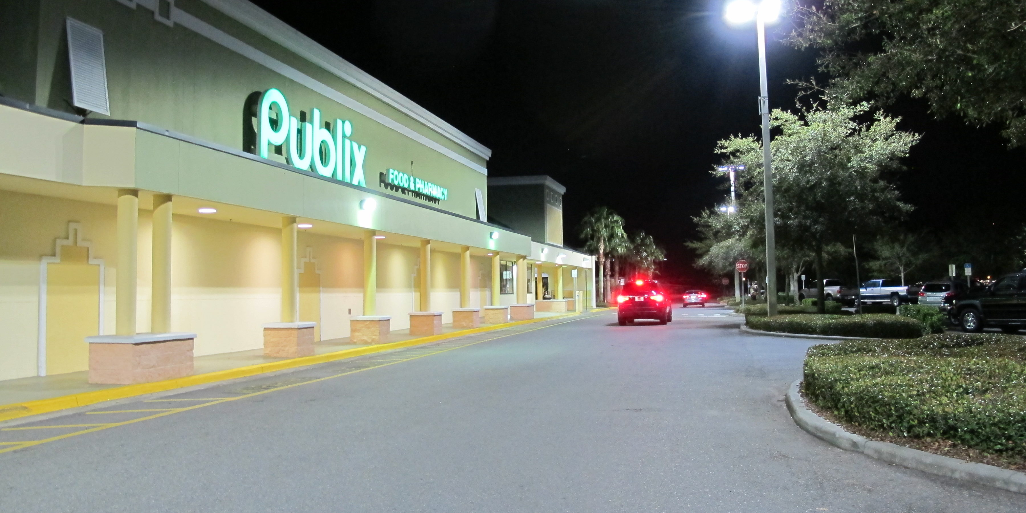 LED lighting, Publix, florida, shopping center