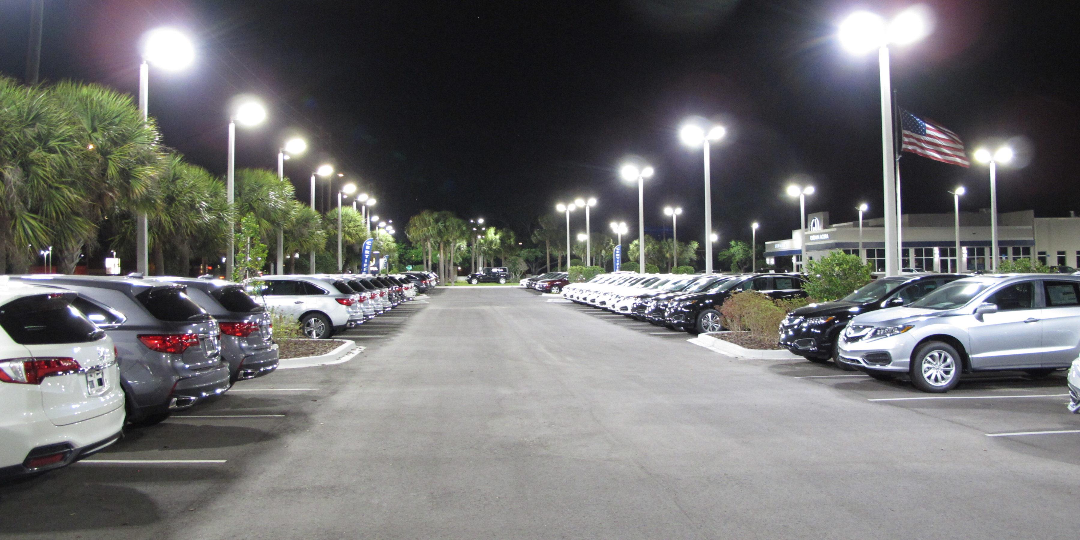 car dealership, led lighting, arkon power, acura, crown acura